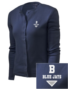 Brookside Elementary School Blue Jays Embroidered Women's Cardigan Sweater