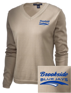 Brookside Elementary School Blue Jays Embroidered Women's V-Neck Sweater