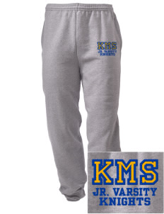 Kellogg Middle School Knights Embroidered Men's Sweatpants with Pockets