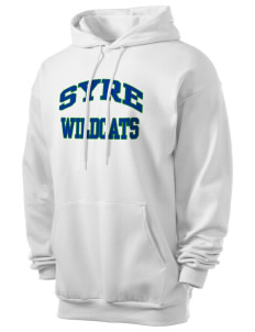 Syre Elementary School Wildcats Men's 7.8 oz Lightweight Hooded Sweatshirt