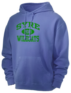 Syre Elementary School Wildcats Men's 80/20 Pigment Dyed Hooded Sweatshirt