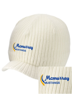 McMurray Middle School Mustangs Embroidered Knit Beanie with Visor