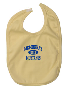 McMurray Middle School Mustangs Baby Interlock Bib