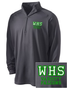 Woodinville High School Falcons Embroidered Men's Stretched Half Zip Pullover