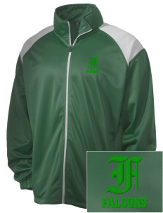 Woodinville High School Falcons Embroidered Men's Tricot Track Jacket