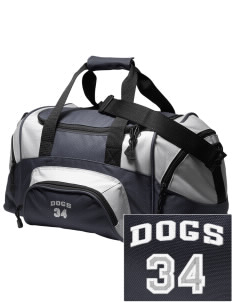 Leschi Elementary School Dogs Embroidered Small Colorblock Duffel
