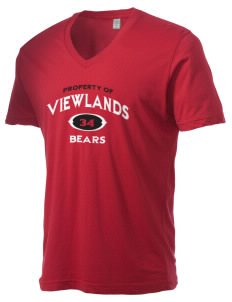 Viewlands Elementary School Bears Alternative Men's 3.7 oz Basic V-Neck T-Shirt