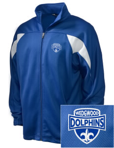 Wedgwood Elementary School Dolphins Embroidered Holloway Men's Full-Zip Track Jacket