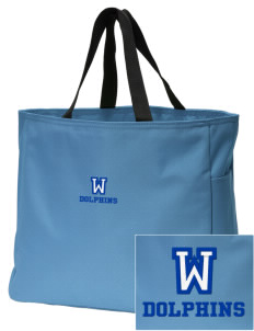 Wedgwood Elementary School Dolphins Embroidered Essential Tote