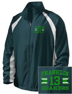 Franklin High School Quakers  Embroidered Men's Full Zip Warm Up Jacket