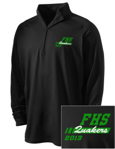 Franklin High School Quakers Embroidered Men's Stretched Half Zip Pullover