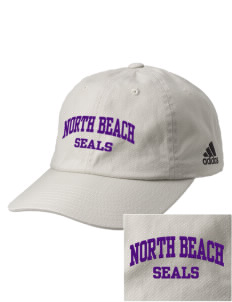 North Beach Elementary School Seals Embroidered adidas Relaxed Cresting Cap