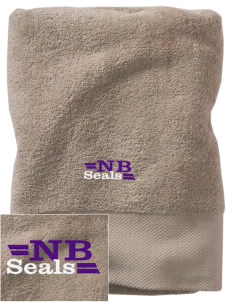 North Beach Elementary School Seals Embroidered Zero Twist Resort Towel