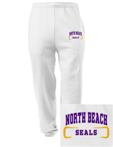 North Beach Elementary School Seals Embroidered Men's Sweatpants with Pockets