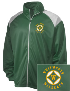 Whitworth Elementary School Wildcats Embroidered Men's Tricot Track Jacket