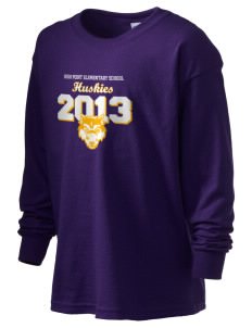 High Point Elementary School Huskies Kid's 6.1 oz Long Sleeve Ultra Cotton T-Shirt