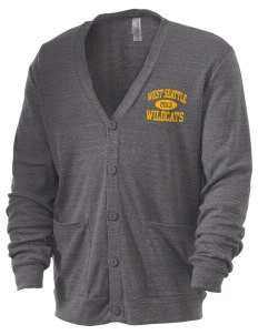 West Seattle High School Wildcats Men's 5.6 oz Triblend Cardigan