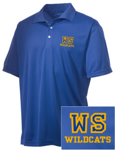 West Seattle High School Wildcats Embroidered Men's Double Mesh Polo