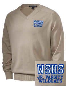 West Seattle High School Wildcats Embroidered Men's V-Neck Sweater