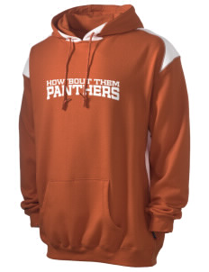 White Pass Senior High School Panthers Men's Pullover Hooded Sweatshirt with Contrast Color