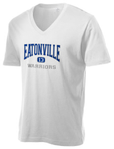 Eatonville Elementary School Warriors Alternative Men's 3.7 oz Basic V-Neck T-Shirt