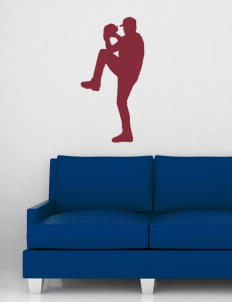 "Eatonville Middle School Warriors Wall Silhouette Decal 20"" x 32"""