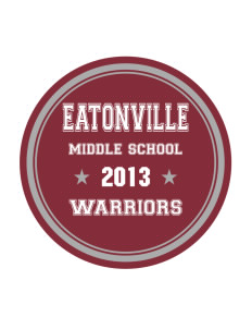 Eatonville Middle School Warriors Sticker
