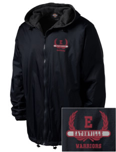 Eatonville Middle School Warriors Embroidered Dickies Men's Fleece-Lined Hooded Jacket
