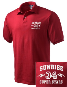 Sunrise Elementary School Super Stars Embroidered Men's Jersey Polo