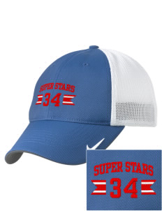 Sunrise Elementary School Super Stars Embroidered Nike Golf Mesh Back Cap