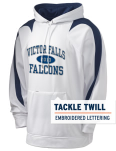Victor Falls Elementary School Falcons Holloway Men's Sports Fleece Hooded Sweatshirt with Tackle Twill
