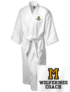 Meeker Middle School Wolverines Embroidered Terry Velour Robe