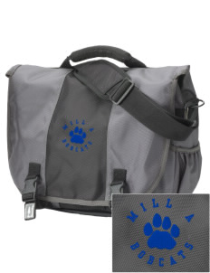 Mill A Elementary School Bobcats  Embroidered Montezuma Messenger Bag