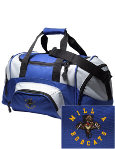 Mill A Elementary School Bobcats Embroidered Small Colorblock Duffel