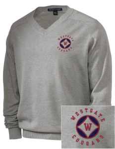 Westgate Elementary School Cougars Embroidered Men's V-Neck Sweater