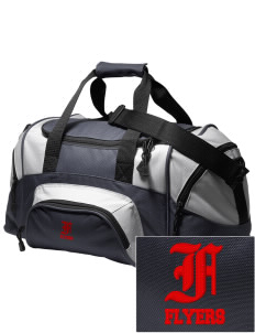 Fairmount Elementary School Flyers Embroidered Small Colorblock Duffel
