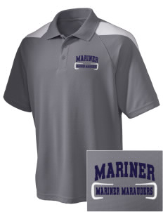 Mariner High School Mariner Marauders Embroidered Holloway Men's Frequency Performance Pique Polo