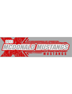 "McDonald Elementary School Mustangs Bumper Sticker 11"" x 3"""