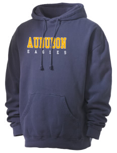 Audubon Elementary School Eagles Men's 80/20 Pigment Dyed Hooded Sweatshirt