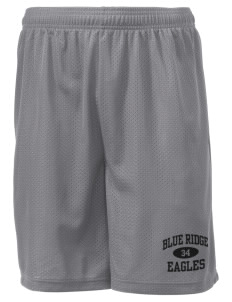 "Blue Ridge Elementary School Eagles Men's Mesh Shorts, 7-1/2"" Inseam"