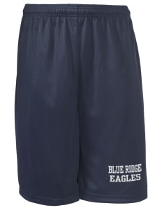 "Blue Ridge Elementary School Eagles Long Mesh Shorts, 9"" Inseam"