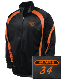 Blaine High School Blaine Borderites Embroidered Holloway Men's Tricotex Warm Up Jacket