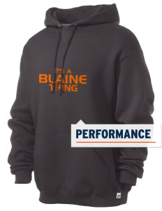 Blaine High School Blaine Borderites Russell Men's Dri-Power Hooded Sweatshirt