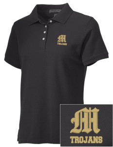 Meridian High School Trojans Embroidered Women's Performance Plus Pique Polo