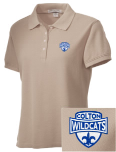 Colton High School Wildcats Embroidered Women's Performance Plus Pique Polo