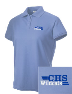 Colton High School Wildcats Embroidered Women's Technical Performance Polo