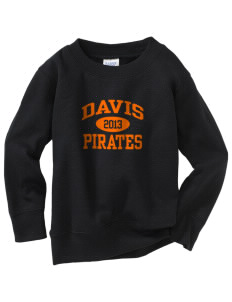 Davis High School Pirates Toddler Crewneck Sweatshirt