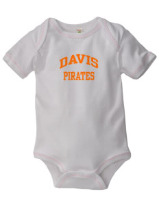 Davis High School Pirates Baby Zig-Zag Creeper