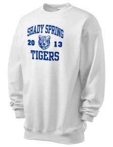 Shady Spring Elementary School Tigers Men's 7.8 oz Lightweight Crewneck Sweatshirt