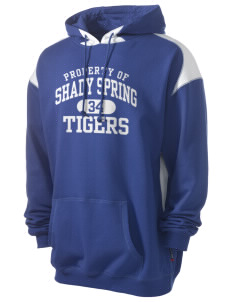 Shady Spring Elementary School Tigers Men's Pullover Hooded Sweatshirt with Contrast Color